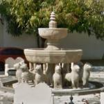 "Replica of the fountain of ""Patio de los Leones"""