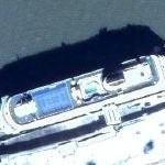 Cruise ship in Galveston port (Google Maps)