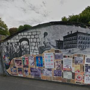 """Derry women made more than shirts, they made communities"" mural (StreetView)"