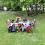 Historic reenactors at Riel House