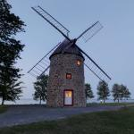 Round Stone Windmill and House