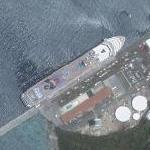 Cruise ship at Saint Thomas (Google Maps)