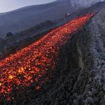 Lava flow of Mount Etna