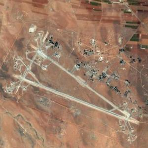 Al Shayrat Air Base (Apr, 2017 U.S. Missile Strike site) (Google Maps