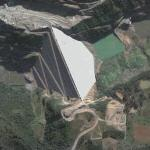 2006-06-29 - World's third tallest dam fails (Google Maps)