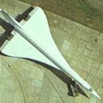 Concorde being towed (Google Maps)