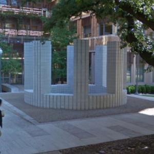 'Circle with Towers' by Sol LeWitt (StreetView)
