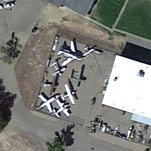 Aircraft static display at Colorado Northwestern Community College (Google Maps)