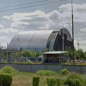 Chernobyl Sarcophagus (StreetView)