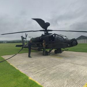 AgustaWestland Apache being tanked at Goodwood Aerodrome (StreetView)
