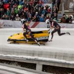 German bobsleigh starting at Igls