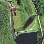 Blakeley Reservoir dam and fish ladder (Google Maps)