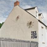Face your fear - The spider mural and sculpture