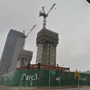 Parc1 Tower under construction (StreetView)