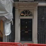 The fake Downing Street 10 door
