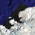 Black colored sea in Antarctica