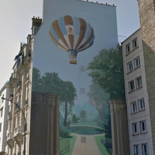 balloon mural in levallois perret france google maps