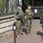 Guarding French soldiers
