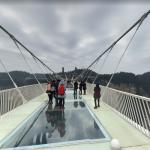 Zhangjiajie Glass Bridge (world's longest and tallest glass-bottomed bridge)