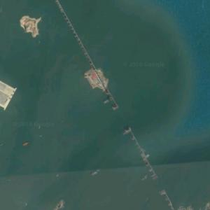 Pingtan Strait Rail-Road Bridge under construction (Google Maps)