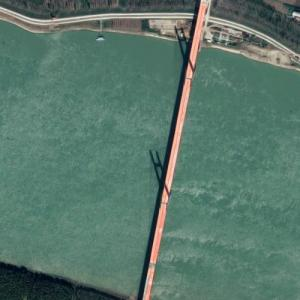 Gongan Yangtze River Bridge (Google Maps)