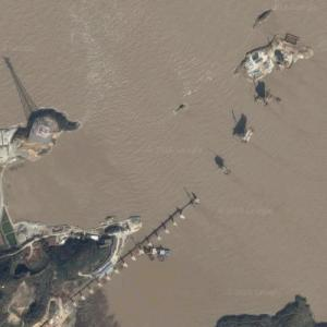 Xiushan Bridge under construction (Google Maps)