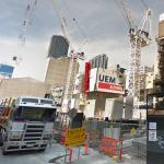 Aurora Melbourne Central under construction