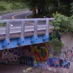 Graffiti under Granite Road