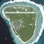 Big airport on small island (Ulithi Atoll) (Google Maps)