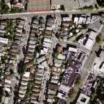 Remnant of Oakland Paving Company railroad (Google Maps)