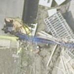 2005-04-21 - Collapsed crane smashed into two buildings (Google Maps)