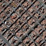 Cerda's city architecture in Eixample (Google Maps)