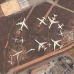 Airplane Cemetary at Luanda Airport (1.) (Google Maps)