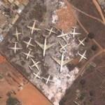 Airplane Cemetary at Luanda Airport (2.) (Google Maps)