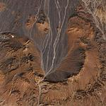 Tsenkher impact crater in Mongolia