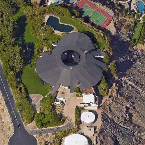 'Hope House' by John Lautner (Google Maps)