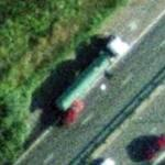 Accident - Red Car vs Green Tank Truck (Google Maps)