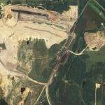 Strip Mine and reclaimed land (Google Maps)