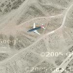 Airplane approaching Albuquerque International (Google Maps)