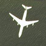 Airplane near Boston (Google Maps)