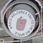 Amoco Welcomes You To The Big Apple (Google Maps)