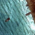 Shipbreaking at Gadani Beach (Google Maps)