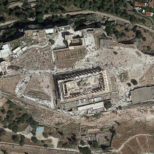 acropolis of athens in athens greece google maps