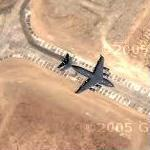 C-17 at Bagram Airbase (Google Maps)