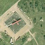 Fire training area at Karup Air Base (Google Maps)