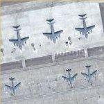 C-17s & KC-135s at Ganci Air Base (Google Maps)