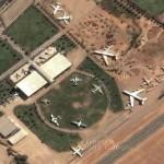 Old Aircrafts in Los Cerrillos Airport (SCER) (Google Maps)