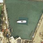 Open water set at Pinewood Studios (Google Maps)