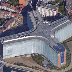 Berlaymont building - EU Headquarters (Google Maps)