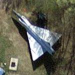 F-102A Delta Dagger at Burlington International (Google Maps)